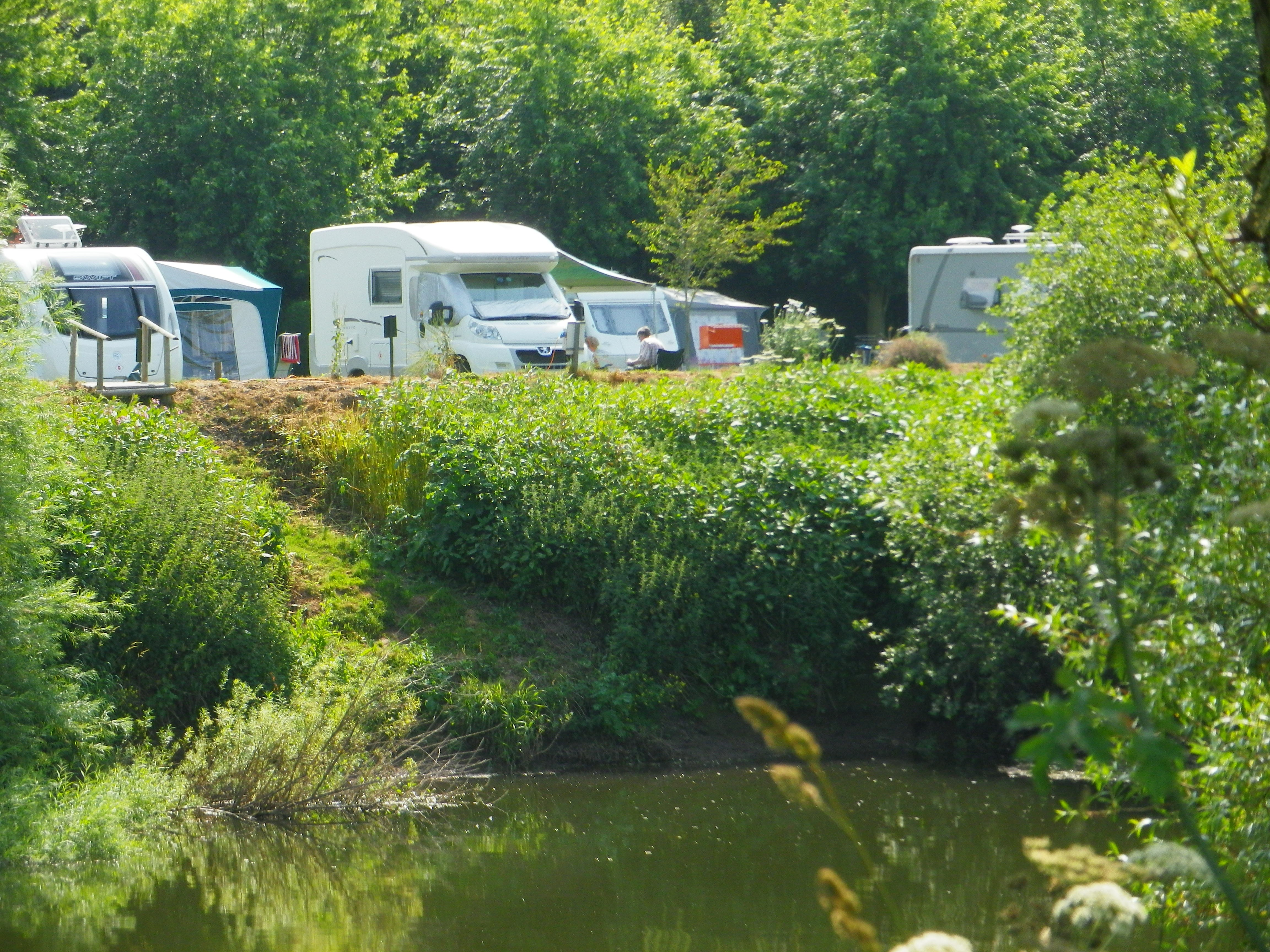 Touring Pitches next to River Wye