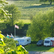 Seasonal Caravan Pitches at Lucksall Caravan & Camping park in Herefordshire.