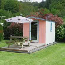 Glamping Beach Hut at Lucksall Caravan and Camping Park.
