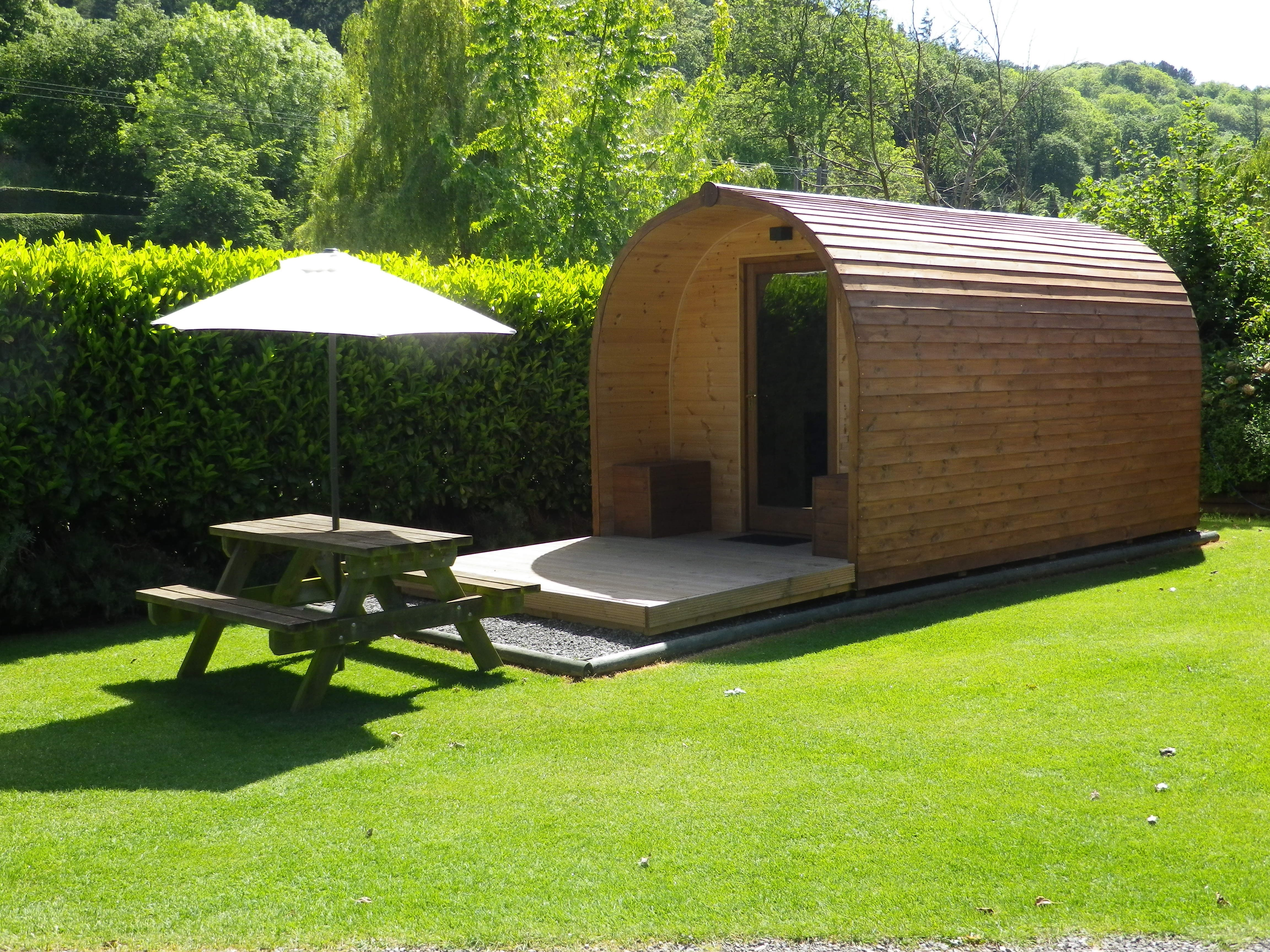 Hire a Glamping Pod on the grounds of Lucksall Caravan and Camping Park.